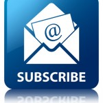 Subscribe (Newsletter email icon) glossy blue reflected square button